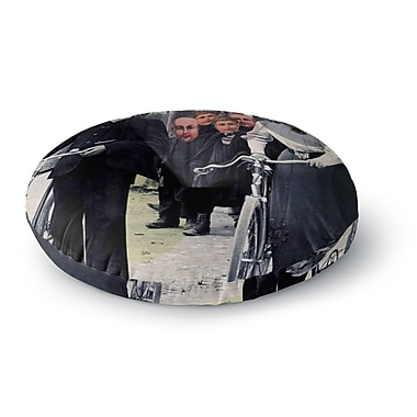 East Urban Home Suzanne Carter 'Incognito' Digital Round Floor Pillow; 23'' x 23''