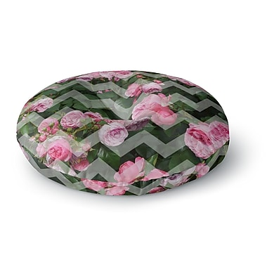 East Urban Home Suzanne Carter 'Chevron Rose' Round Floor Pillow; 26'' x 26''