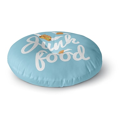 East Urban Home 'Junk Food' Burger Round Floor Pillow; 23'' x 23''