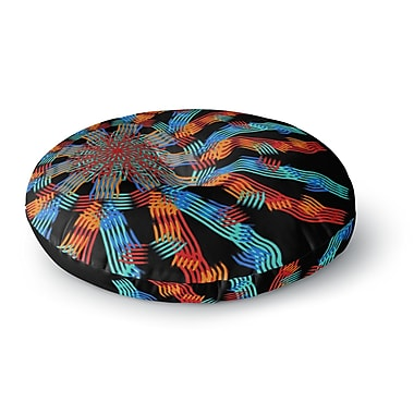 East Urban Home Laura Nicholson 'Ribbon Ring' Abstract Round Floor Pillow; 26'' x 26''