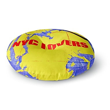 East Urban Home Lazar Milanovic 'NYC Lovers' Round Floor Pillow; 23'' x 23''
