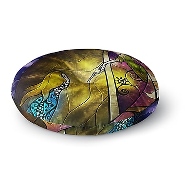 East Urban Home Mandie Manzano 'Fairy Tale off to Neverland' Round Floor Pillow; 26'' x 26''