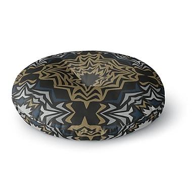 East Urban Home Miranda Mol 'Golden Fractals' Round Floor Pillow; 23'' x 23''