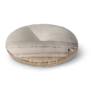 East Urban Home Myan Soffia 'Ritual' Beach Sand Round Floor Pillow; 23'' x 23''