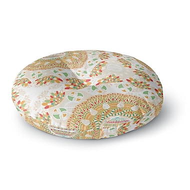 East Urban Home Miranda Mol 'Bohemian Bright' Geometric Round Floor Pillow; 23'' x 23''