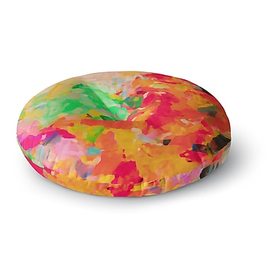 East Urban Home Oriana Cordero 'La Rochelle-Abstract' Round Floor Pillow; 23'' x 23''