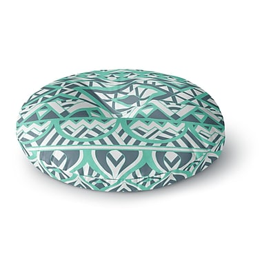 East Urban Home Pom Graphic Design 'Tribal Simplicity' Round Floor Pillow; 23'' x 23''