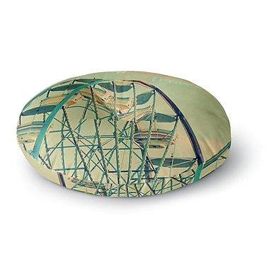East Urban Home Robin Dickinson 'Ferris Wheel' Round Floor Pillow; 26'' x 26''