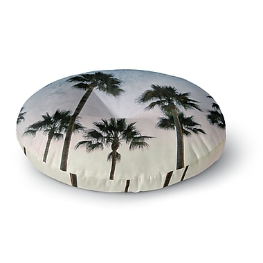East Urban Home Richard Casillas 'Paradise Palms' Round Floor Pillow; 26'' x 26''