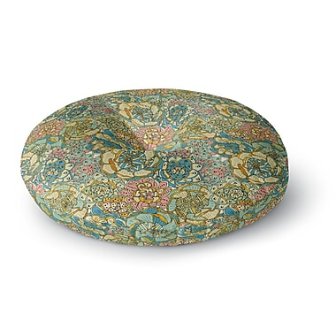East Urban Home Pom Graphic Design 'Blooming Succulents' Round Floor Pillow; 23'' x 23''