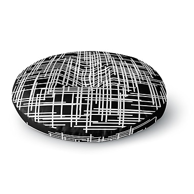 East Urban Home Trebam 'Visina' Abstract Round Floor Pillow; 23'' x 23''