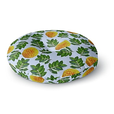 East Urban Home Sreetama Ray 'More Marigold' Round Floor Pillow; 23'' x 23''