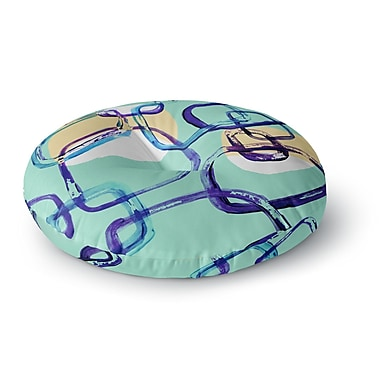 East Urban Home Theresa Giolzetti 'Sixties Exposure' Round Floor Pillow; 23'' x 23''
