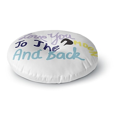 East Urban Home Vasare Nar 'Love You to the Moon and Back' Vector Round Floor Pillow; 23'' x 23''