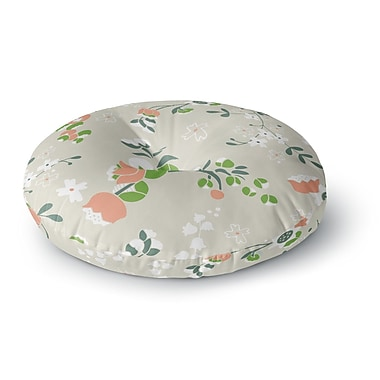 East Urban Home Very Sarie 'Early Waking' Floral Round Floor Pillow; 23'' x 23''