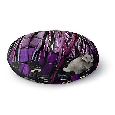 East Urban Home Theresa Giolzetti 'Bamboo Bunny' Round Floor Pillow; 26'' x 26''