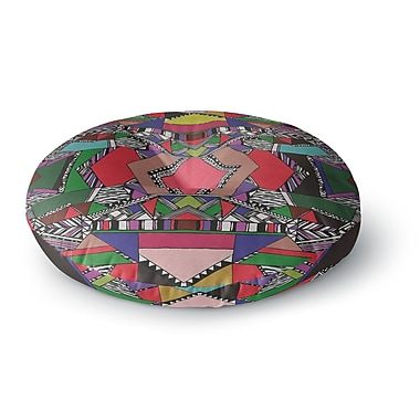 East Urban Home Vasare Nar 'African Motif' Round Floor Pillow; 23'' x 23''
