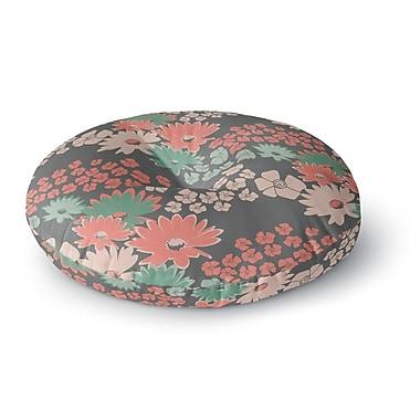 East Urban Home Zara Martina Mansen 'Natures Bouquet' Round Floor Pillow; 23'' x 23''