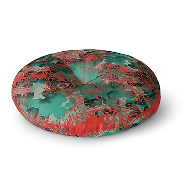 East Urban Home Rosa Picnic 'Coral Abstract' Digital Round Floor Pillow; 23'' x 23''