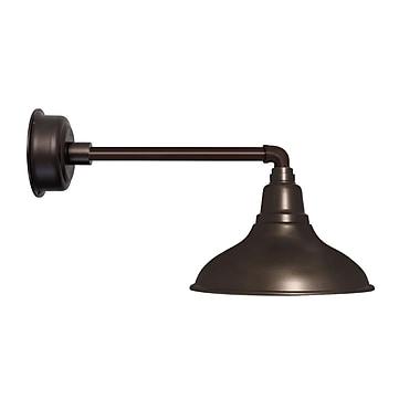 Cocoweb Dahlia LED 1-Light Outdoor Barn Light; Mahogany Bronze