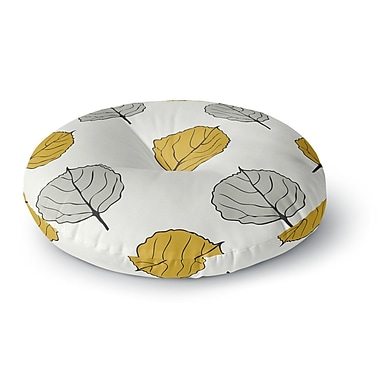 East Urban Home Laurie Baars 'Quaking Leaf' Round Floor Pillow; 23'' x 23''