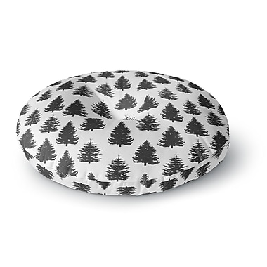 East Urban Home Marta Olga Klara 'Pine Forest' Nature Round Floor Pillow; 23'' x 23''