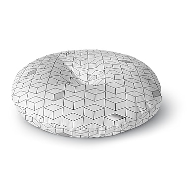 East Urban Home 'Shade Cubed' Round Floor Pillow; 26'' x 26''