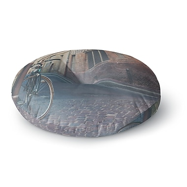 East Urban Home Laura Evans 'The Streets of Albi' Photography Round Floor Pillow; 26'' x 26''
