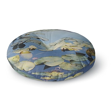 East Urban Home Laura Evans 'The Lily Pond' Photography Round Floor Pillow; 26'' x 26''