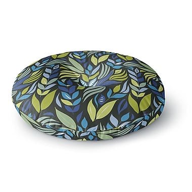 East Urban Home Michelle Drew 'Underwater Bouquet Night' Round Floor Pillow; 23'' x 23''