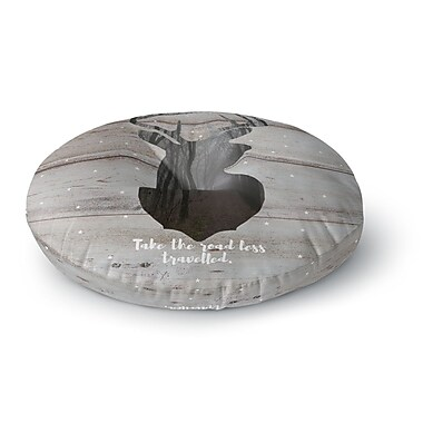 East Urban Home Suzanne Carter 'The Road - Woodgrain' Round Floor Pillow; 23'' x 23''
