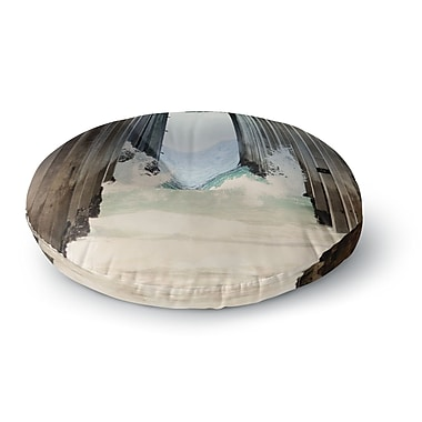 East Urban Home Sylvia Coomes 'Under the Pier' Round Floor Pillow; 26'' x 26''