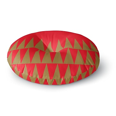 East Urban Home Suzanne Carter 'Christmas 1' Round Floor Pillow; 26'' x 26''