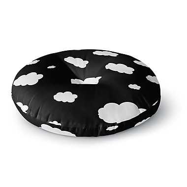 East Urban Home Suzanne Carter 'Clouds' Round Floor Pillow; 26'' x 26''