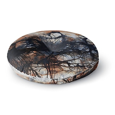 East Urban Home Steven Dix 'Looking for Water' Round Floor Pillow; 26'' x 26''