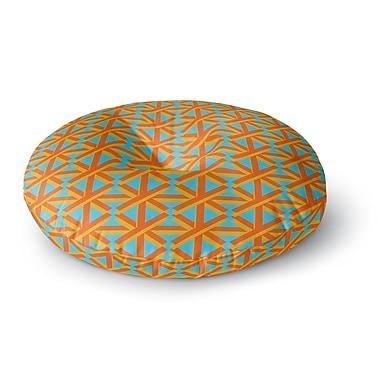 East Urban Home Trebam 'Topao' Round Floor Pillow; 26'' x 26''