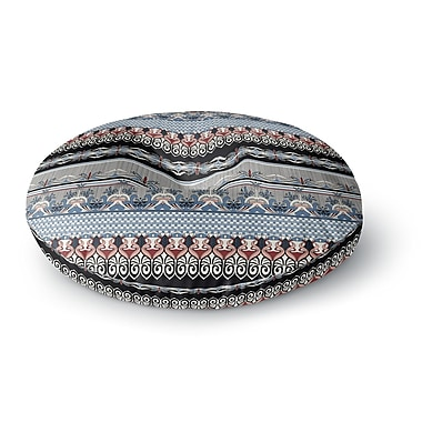 East Urban Home Victoria Krupp 'Nouveau Deco' Round Floor Pillow; 23'' x 23''