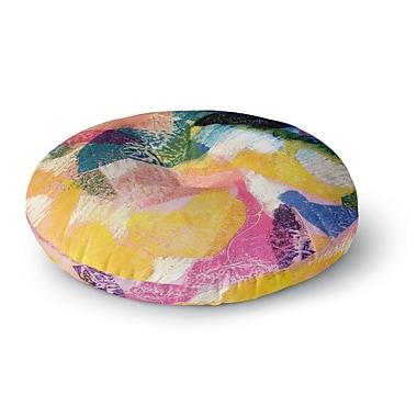 East Urban Home Louise Machado 'Texture' Round Floor Pillow; 26'' x 26''