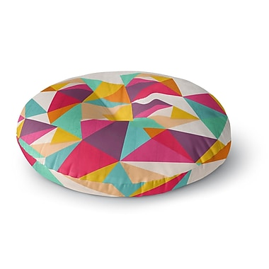 East Urban Home Kathleen Kelly 'Diamond' Geometric Round Floor Pillow; 23'' x 23''