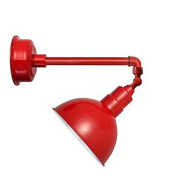Cocoweb Blackspot LED 1-Light Outdoor Barn Light; Cherry Red