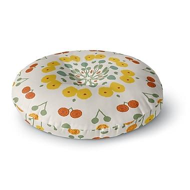 East Urban Home Laura Nicholson 'Ranunculas' Floral Round Floor Pillow; 23'' x 23''