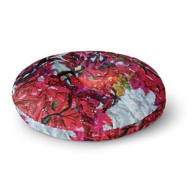 East Urban Home Mary Bateman 'Bougainvillea' Round Floor Pillow; 26'' x 26''