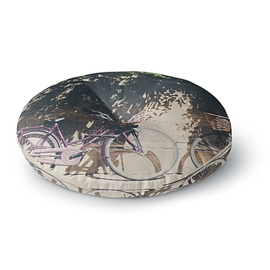 East Urban Home Laura Evans 'Pretty Bicycles' Round Floor Pillow; 26'' x 26''