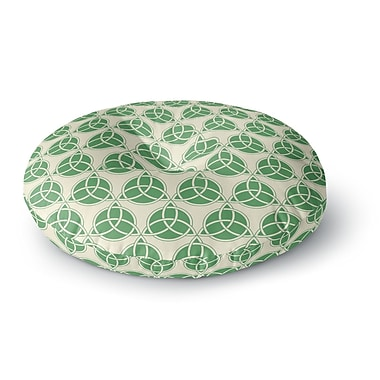 East Urban Home 'Celtic - Pattern' Round Floor Pillow; 23'' x 23''