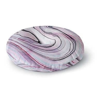East Urban Home Mmartabc 'Abstract Marble Pink' Digital Round Floor Pillow; 23'' x 23''
