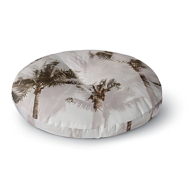 East Urban Home Mary Carol Fitzgerald 'Abstract Palms' Photography Round Floor Pillow; 23'' x 23''
