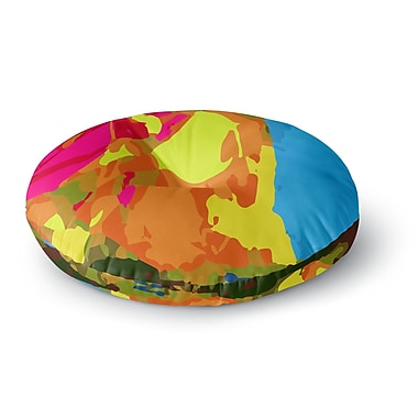 East Urban Home Matthias Hennig 'Colored Plastic' Round Floor Pillow; 26'' x 26''