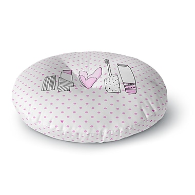 East Urban Home MaJoBV 'Girls Luv' Makeup Round Floor Pillow; 26'' x 26''
