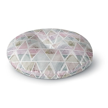 East Urban Home Michelle Drew 'Triangle Mountains' Round Floor Pillow; 26'' x 26''