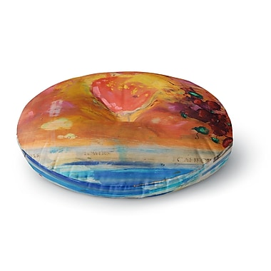 East Urban Home Nathan Gibbs 'Treslt' Painting Round Floor Pillow; 23'' x 23''